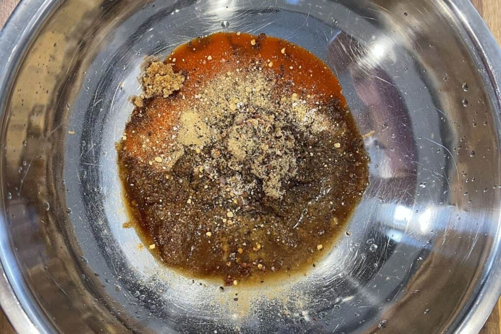 ingredients for firecracker sauce in a mixing bowl