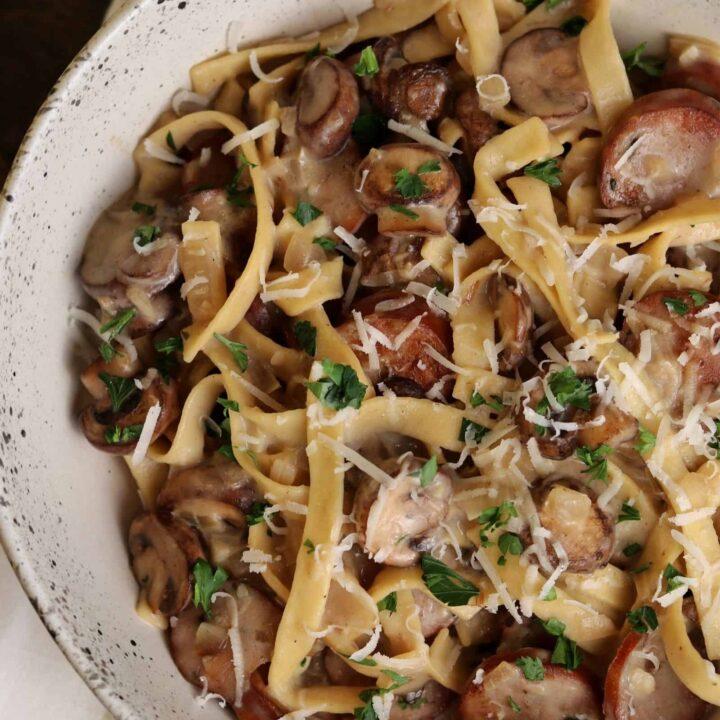 One-Pan Sausage and Mushroom Pasta
