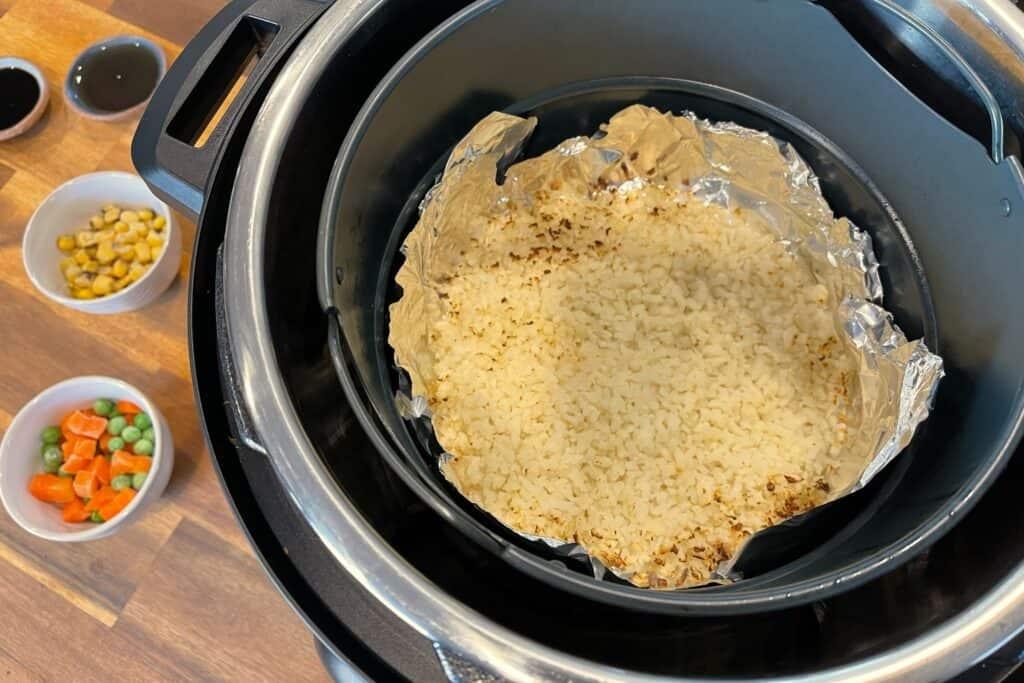 air frying frozen cauliflower rice