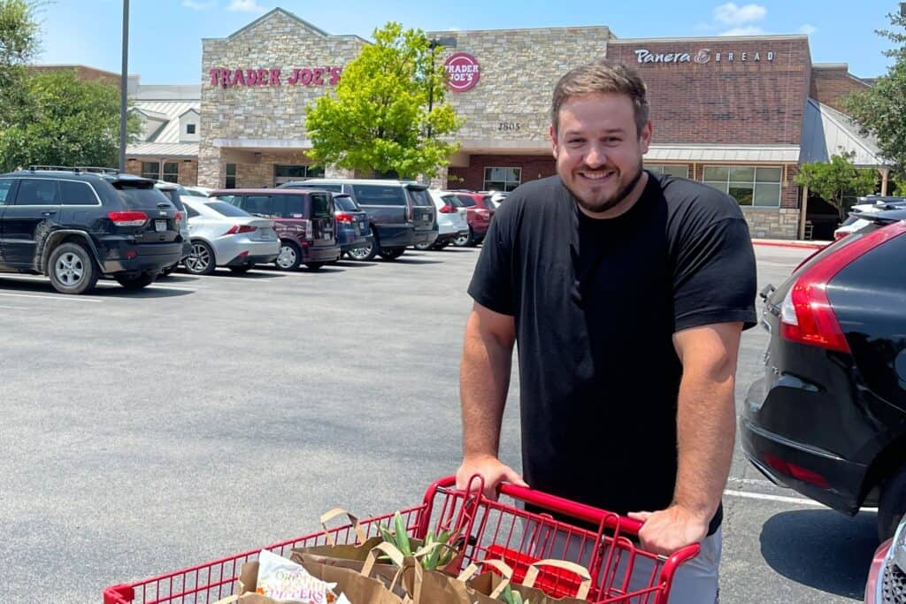 mason woodruff at Trader Joe's in Austin Texas