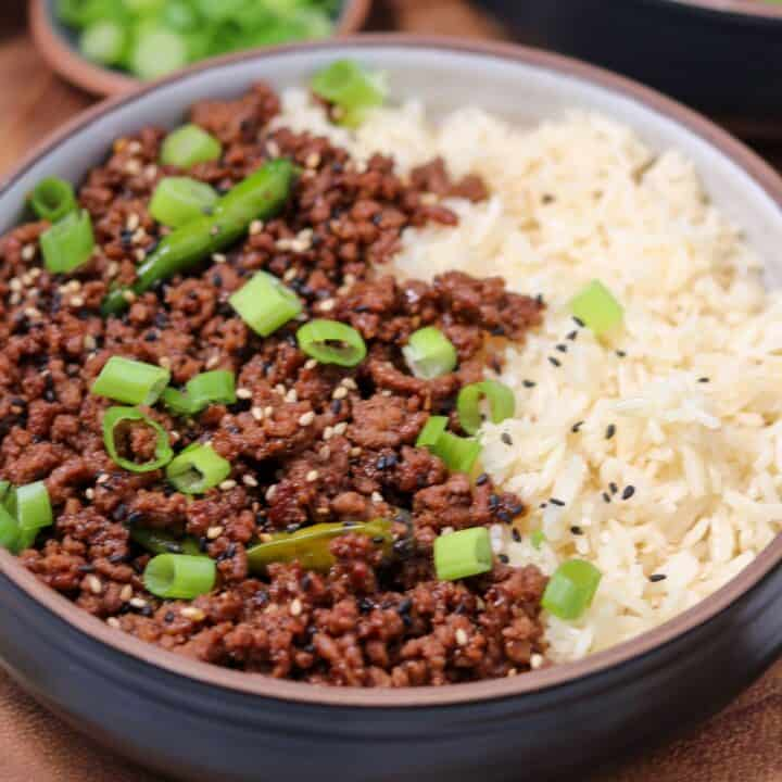 Low Carb Mongolian Ground Beef