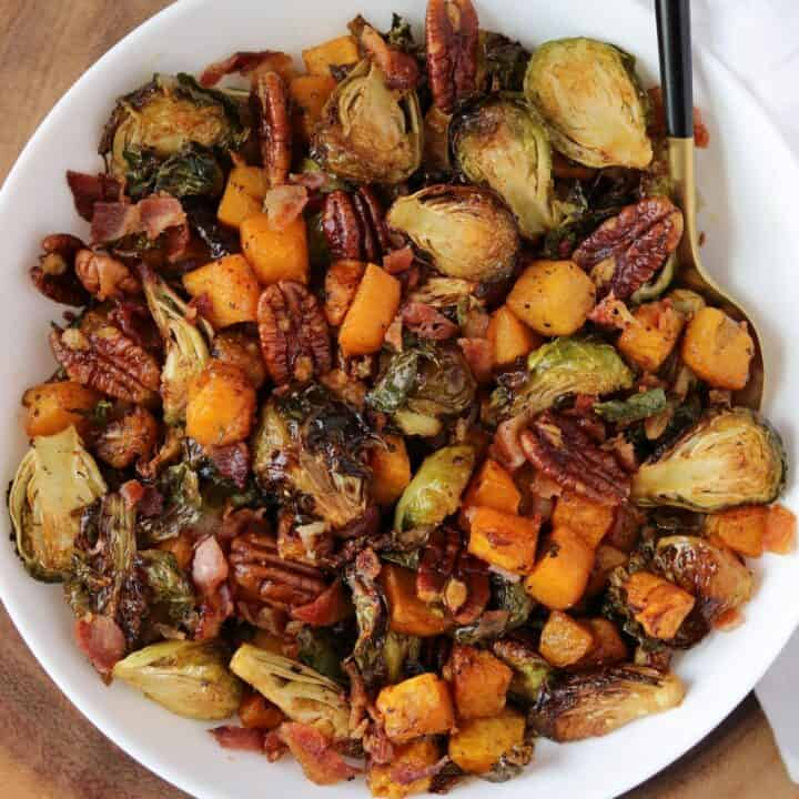 Air Fryer Butternut Squash and Brussels Sprouts
