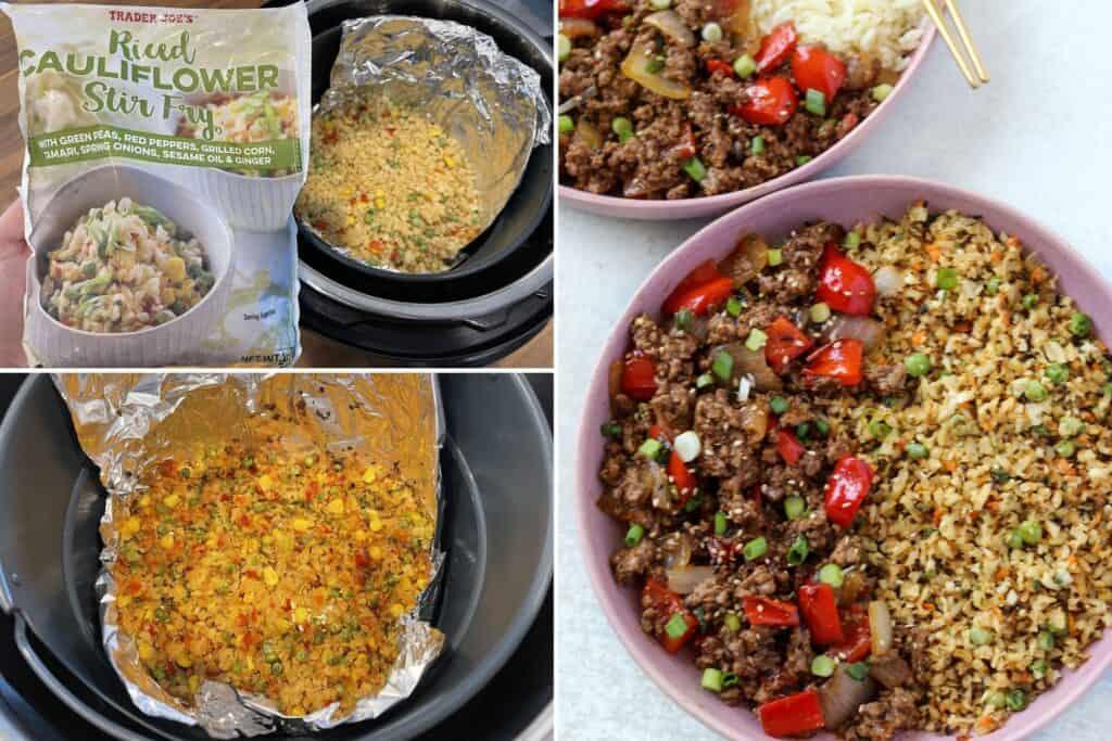fried cauliflower rice stir-fry