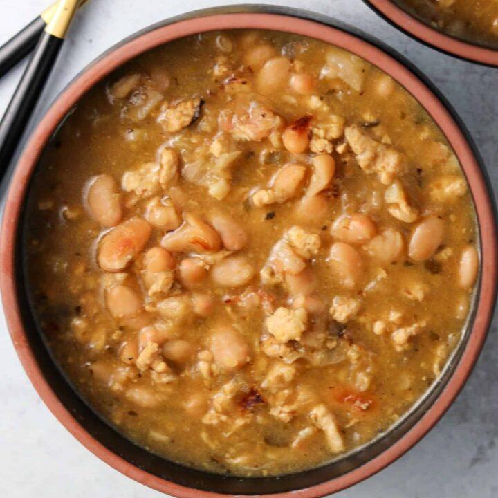 White Bean Ground Chicken Soup