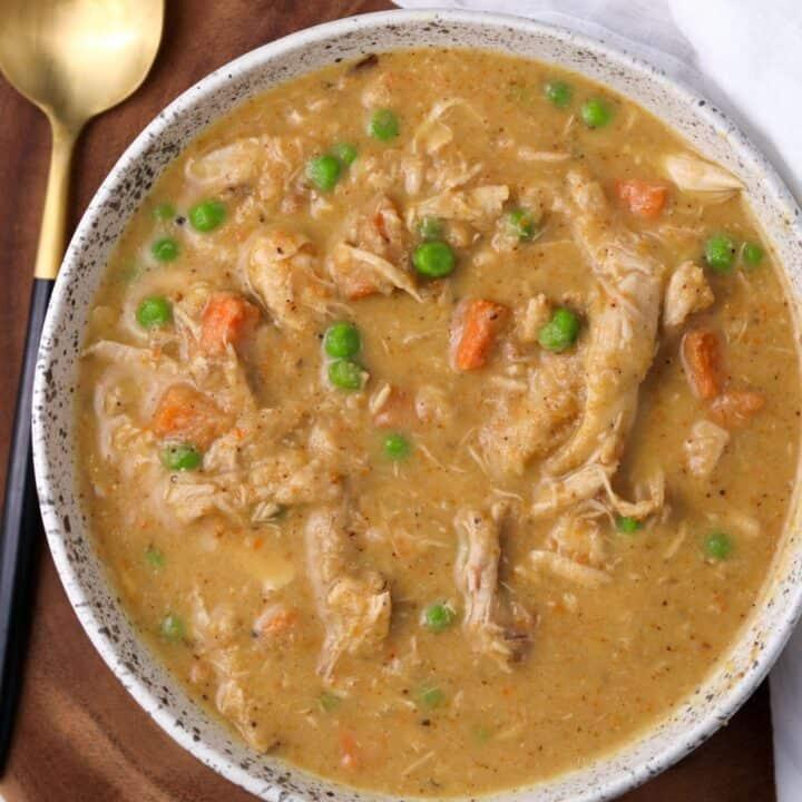 Roasted Cauliflower Chicken Soup