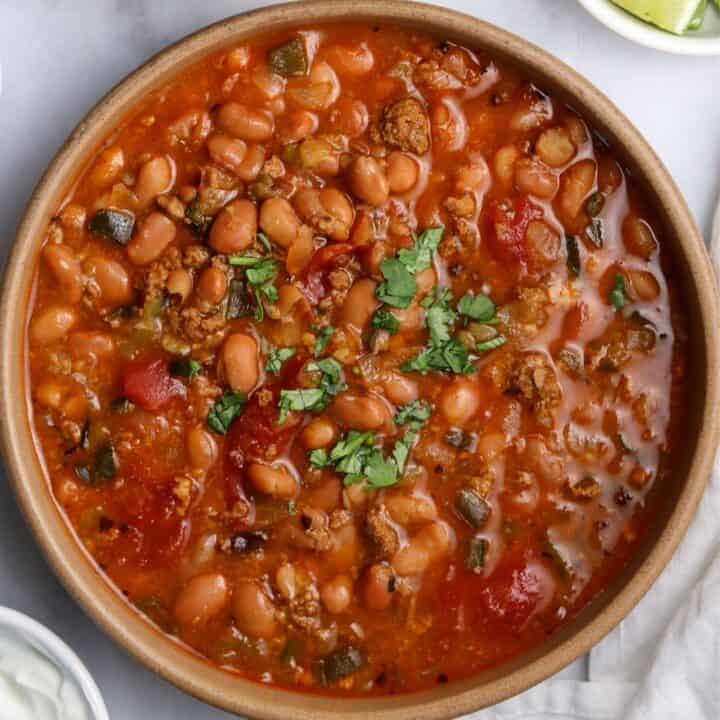Instant Pot Pinto Bean Soup with Chorizo
